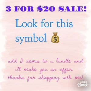 💰 3 for $20 Sale! 💰